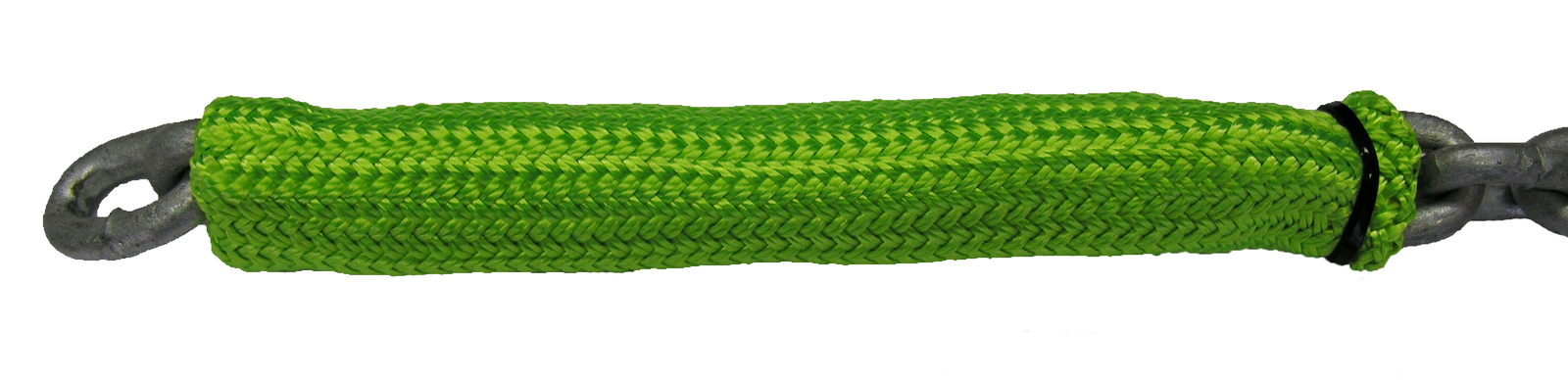 Chain Sock Fluro Green Designed To Protect Vessels Winch And Dampen Chain Noise Suits 8m x 6mm Short Link