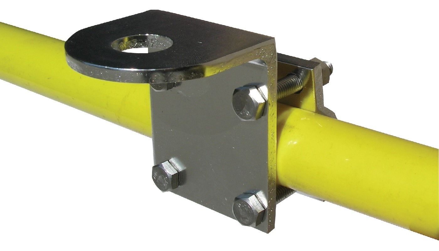 Spotlight And Aerial Clamp-On Mounting Bracket For Round Tube
