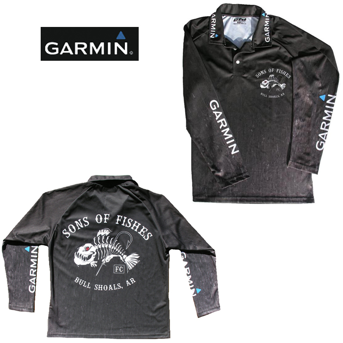 Garmin Exclusive Fishing Shirt With Sons Of Fishes, Provides UV Protection, Extra Extra Large Garmin