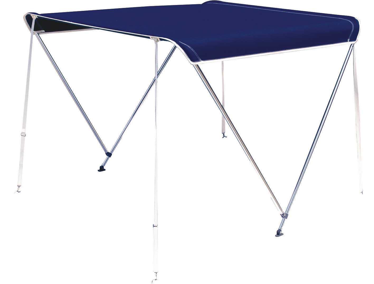 2 Bow Bimini Kit Complete With All Tubes And Fastenings Blue 1.5-1.7m Oceansouth
