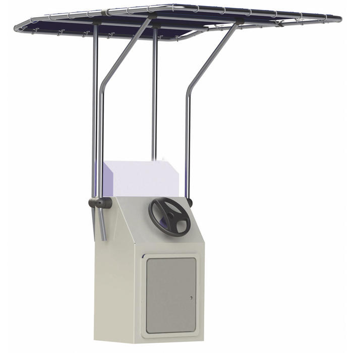Retractable T-Top For Storage And Towing 1.4m Width Blue Oceansouth