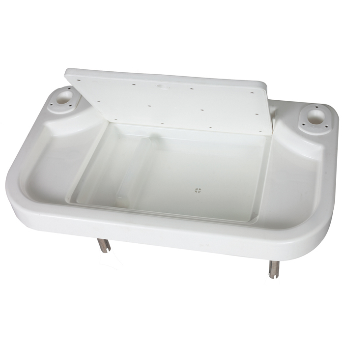 Oceansouth Extra Large Bait Cutting Board With Two Rod Holders And Lidded Tackle Department Oceansouth