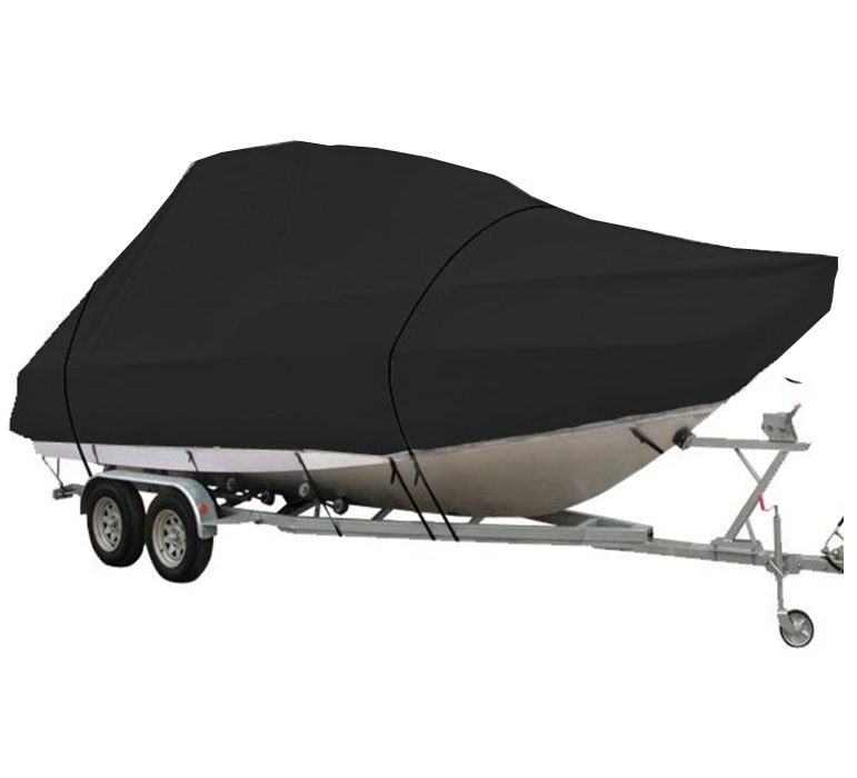 Durable Semi-Custom Trailerable JUMBO Boat Covers To Suit Boats 7.0-7.6 Metres Black Oceansouth