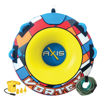 "AXIS VORTEX Round Single Rider Sit-In Ski Tube 54"" With Pump And Tow Rope"