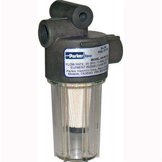 Parker Hannifin RACOR 025 Series In-Line Fuel Pre-Filter With See Through Bowl And Mounting Head