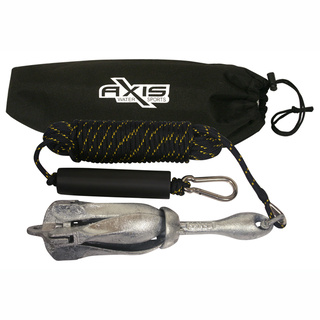 Small Ski Boat Anchor Kit Including Anchor, Rope, Float And Bag