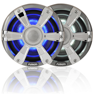 Fusion Signature Series Sports Marine Speakers With LED's Chrome