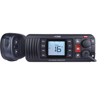 GME GX700B VHF Marine Radio With Programmable Priority Channels Black