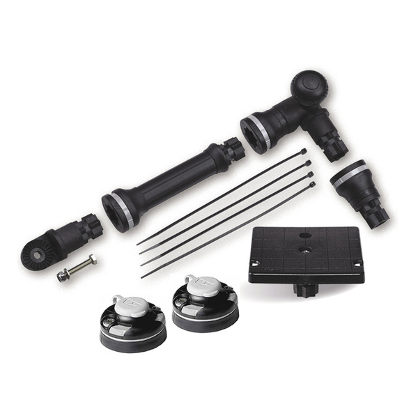 Railblaza Kayak And Canoe Sounder And Transducer Mount Kit With StarPorts Black
