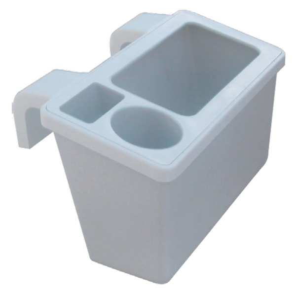 Gunwale Mounted Tackle Storage Bin With Drink Holder